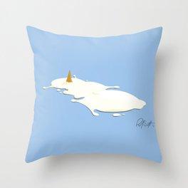 Frosty the Semen Man Throw Pillow