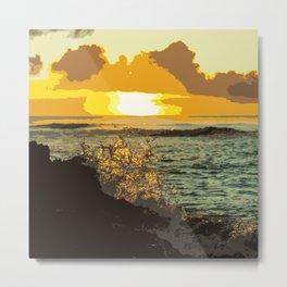 Sunset Splash (Art Version) Metal Print
