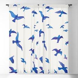 Blue Birds Blackout Curtain