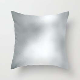Elegant abstract faux silver foil gradient Throw Pillow