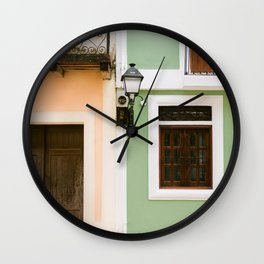 Colorful houses of Santo Domingo | Dominican Republic travel photography Wall Clock