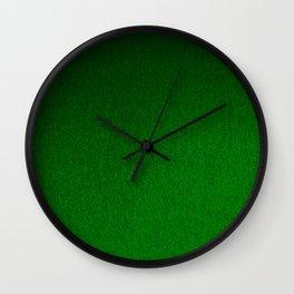 Emerald Green Ombre Design Wall Clock