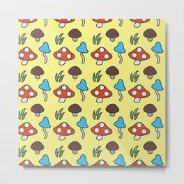 Mushroom Pattern Metal Print