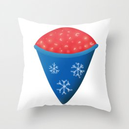 Snow Cone (Shaved Ice) Throw Pillow