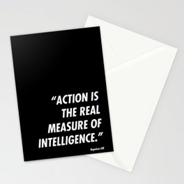 Action is Intelligence Stationery Cards