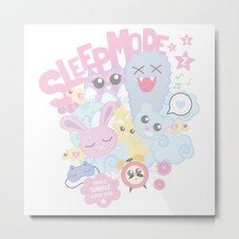 Sleep Mode Metal Print