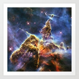 Carina Nebula Mystic Mountain Art Print