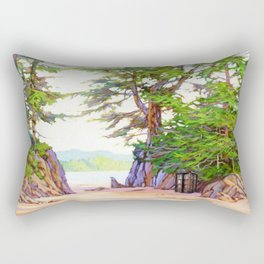 Tardis Stay In The Beach Rectangular Pillow