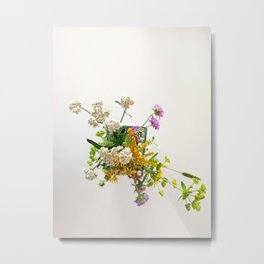 Wild flowers | Floral Photography Metal Print