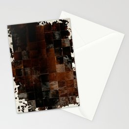 cowhide texture patchwork Stationery Cards