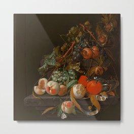 "Cornelis de Heem ""Fruit Still Life"" Metal Print"