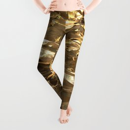 Gold Metal Leggings
