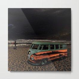 Vintage 21-window classic in metallic orange wall art - photograph Metal Print