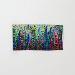 Happy Day In The Flower Fields by OLena Art Hand & Bath Towel