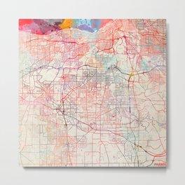 Parma map Ohio painting Metal Print