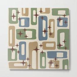 Mid Century Modern Geometric Abstract 131 Metal Print