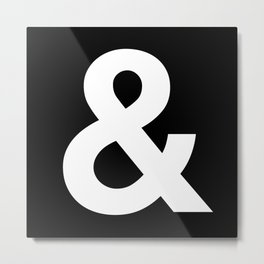 Black and White Ampersand Helvetica Typography Design Poster Home Decor Wall Art Scandinavian Decor Metal Print
