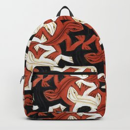 Escher lizard Backpack