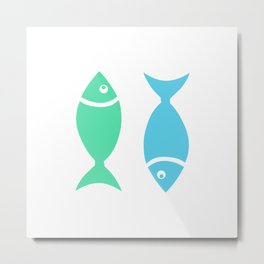Two Sleeping Fishes Metal Print