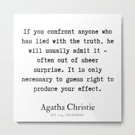55   | Agatha Christie Quotes | 190821 Metal Print