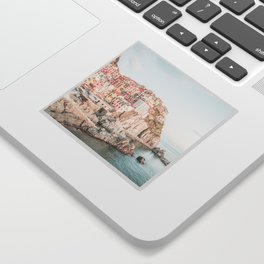 Positano, Italy Amalfi coast pink-peach-white travel photography in hd Sticker
