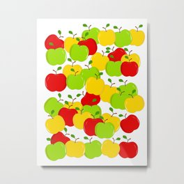 Bunches Of Apples Metal Print