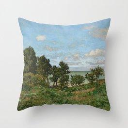 Claude Monet - Coastal landscape Throw Pillow