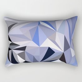 abstract pattern geometric triangle mosaic background low poly style Rectangular Pillow
