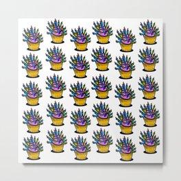 Birthday cupcake pattern Metal Print