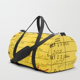 Library Card 23322 Yellow Duffle Bag