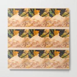"Alphonse Mucha ""Dawn"" Metal Print"
