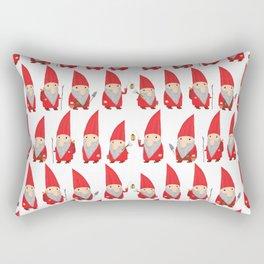 Gnome Pattern Rectangular Pillow