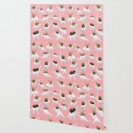 Dinosaurs & Succulents Wallpaper