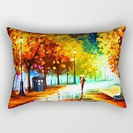 Tardis Starry Light Night Rectangular Pillow