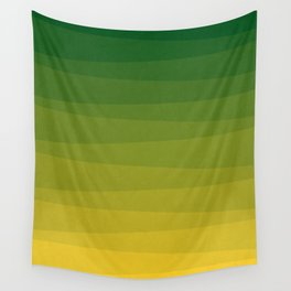 Shades of Grass - Gradient between Lime Green and Bright Yellow Wall Tapestry