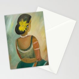 After the dance - Sri Lankan dancing girl Stationery Cards