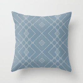 Elegant Scandinavian Geometry Blue Throw Pillow
