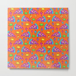 Crazy space alien pizza attack! #2 Metal Print
