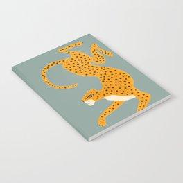 Leopard Race - blue Notebook