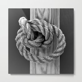 Knot A Rope Knot Metal Print