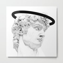 Profile of David statue by Miguel Angel (aura) Metal Print