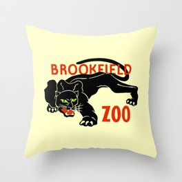 Black panther Brookfield Zoo ad Throw Pillow