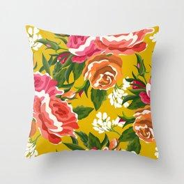 Bageecha || #illustration #botanical #pattern Throw Pillow