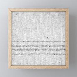 VINTAGE FARMHOUSE GRAIN SACK Framed Mini Art Print