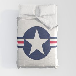 US Air-force plane roundel Comforters