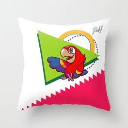 Parrot Pal Throw Pillow