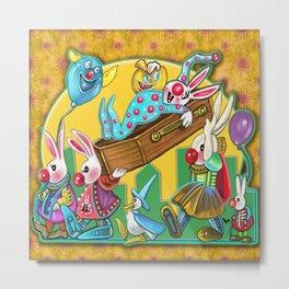 Bunny Slumber Halloween party Metal Print