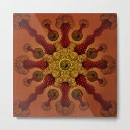 """Vintage Antique Starfish Haeckel Mandala"" Metal Print"