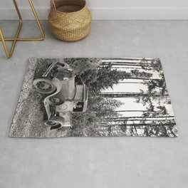 Buck Nasty's Moonshine Model A Ford Vintage Truck Skeleton Rug