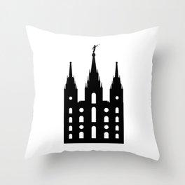 Mormon Style Temple Throw Pillow